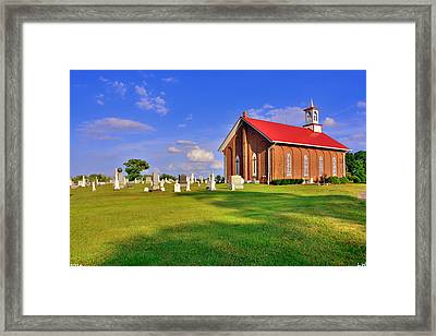 Augusta Christian Church And Cemetery Framed Print
