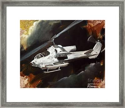 Ah-1w Cobra Framed Print by Stephen Roberson