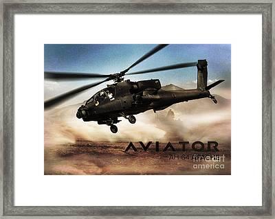 Ah-64 Apache Helicopter Framed Print by Fernando Miranda