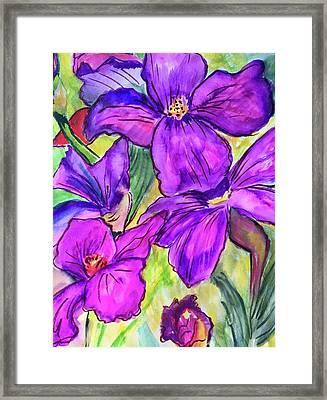 Ah, Iris Framed Print