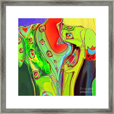 Ah Luvz  Olives Frocks Framed Print