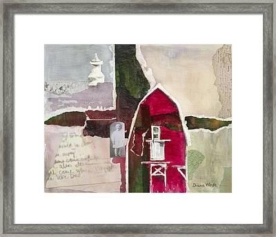 A.h. Meyers Barn Framed Print by Diana Wade