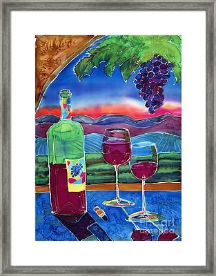Ah Western Wines Framed Print by Jill Targer