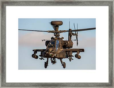 Ah64 Apache Flying Framed Print