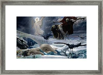 Ahasuerus At The End Of The World Framed Print by Adolph Hiremy Hirschl