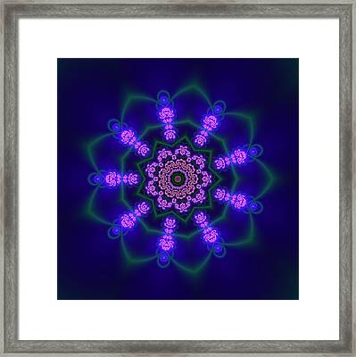 Framed Print featuring the digital art Ahau 9.1 by Robert Thalmeier