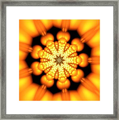 Framed Print featuring the digital art Ahau 9.2 by Robert Thalmeier