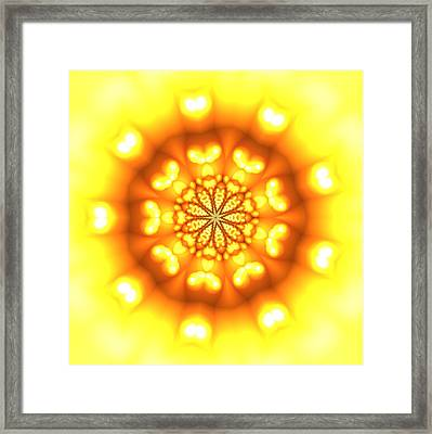 Framed Print featuring the digital art Ahau 9.3 by Robert Thalmeier