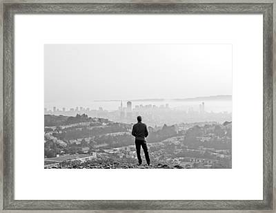 Ahead Framed Print by Jane Hu