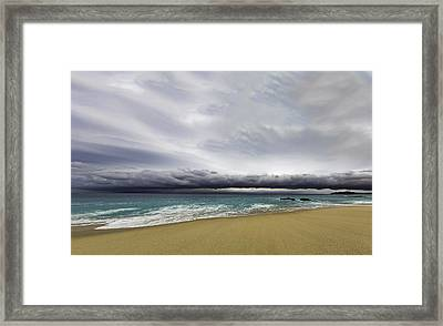 Ahead Of Sandra Framed Print