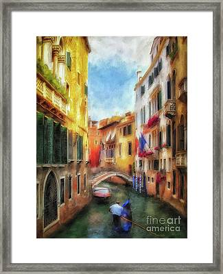 Ahh Venezia Painterly Framed Print by Lois Bryan