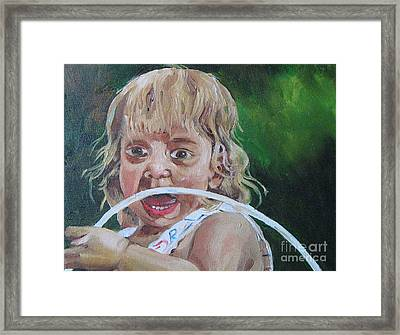 Ahh Framed Print by WorldWide Art Gallery