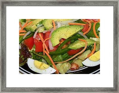 Ahhhh Salad Framed Print by Karen M Scovill