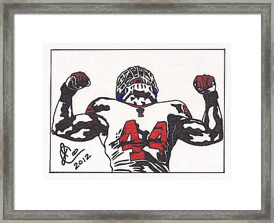 Framed Print featuring the drawing Ahmad Bradshaw by Jeremiah Colley