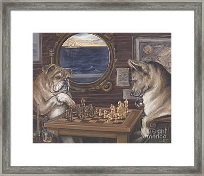 Ahoy Checkmate Framed Print by Wendy Alibozek