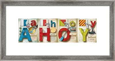 Ahoy Plain Framed Print by Vanessa Bates