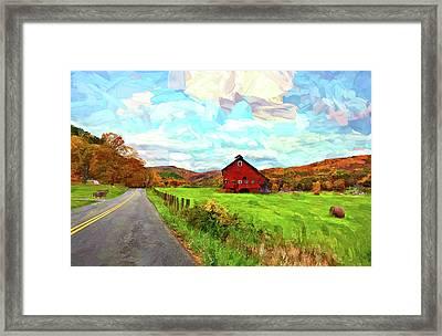 Ah...west Virginia Painted 2 Framed Print