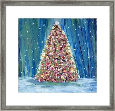 Ai Christmas Tree Framed Print