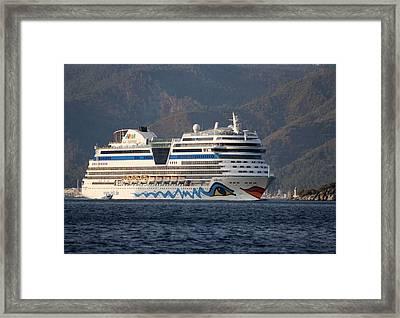 Aida Stella Cruise Ship Leaving Marmaris Framed Print