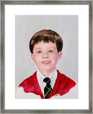 Aidan - Commissioned Portrait Framed Print