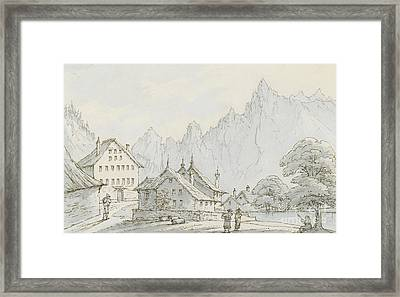 Aigle On The Road Framed Print