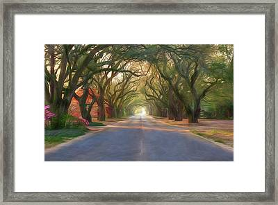 Aiken South Boundary Avenue Framed Print