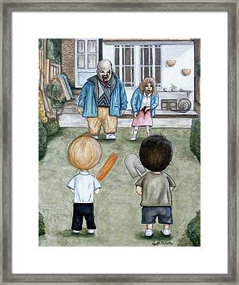 Framed Print featuring the painting Aim For The Head by Al  Molina