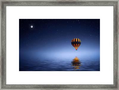 Air Ballon Framed Print by Bess Hamiti