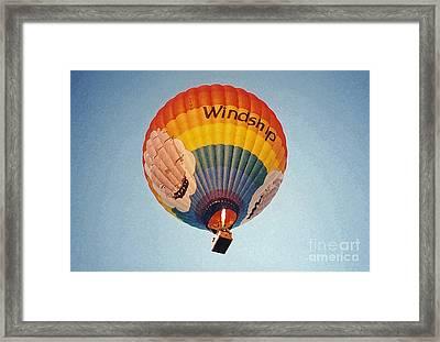 Air Balloon Framed Print by Sonya Chalmers