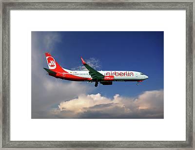 Air Berlin Boeing 737-800 Framed Print