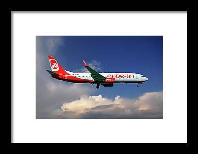 Air Berlin Framed Prints