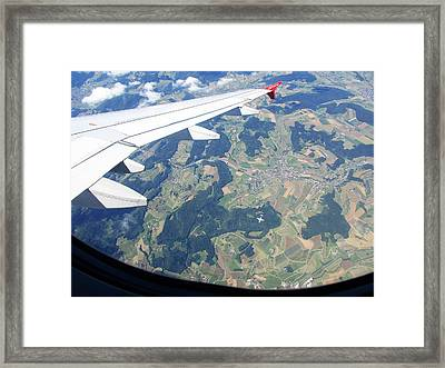 Air Berlin Over Switzerland Framed Print