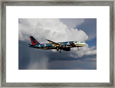 Air Brussels Framed Print