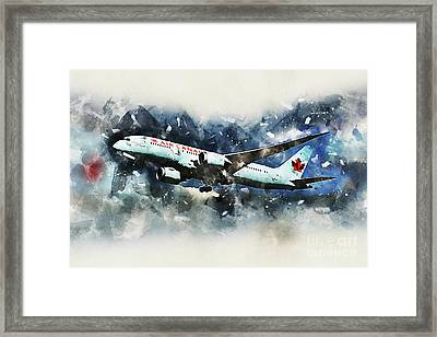 Air Canada Boeing 787-8 Dreamliner Framed Print