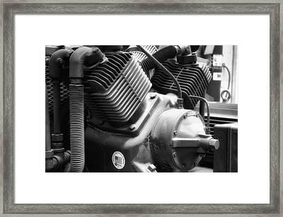 Air Compressor Bw Framed Print