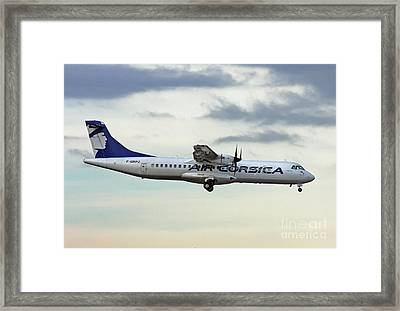 Air Corsica Atr 72-212a - F-grpz Framed Print