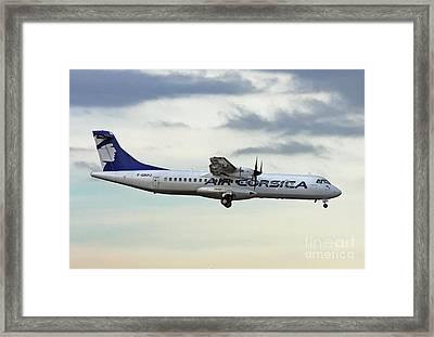 Framed Print featuring the photograph Air Corsica Atr 72-212a - F-grpz by Amos Dor