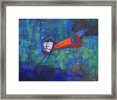 Framed Print featuring the painting air by Donna Howard