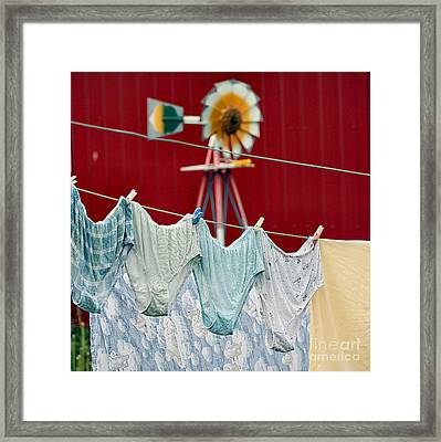 Framed Print featuring the photograph Air Drying by Jan Piller