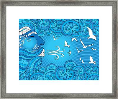 Air Element Framed Print by Serena King