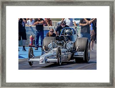 Air Force Dragster Framed Print by Bill Gallagher