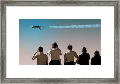 Framed Print featuring the photograph Air Force In Force by Karen Musick