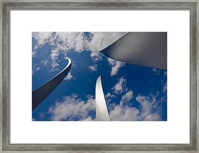 Air Force Memorial Framed Print by Louise Heusinkveld