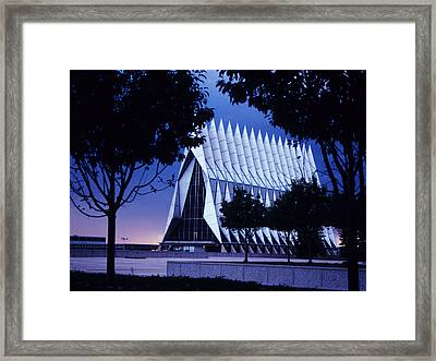 Air Force The Cadet Chapel Framed Print by GerMaine Photography