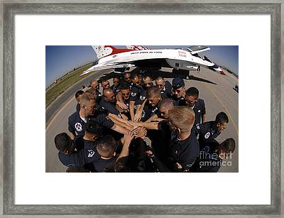 Air Force Thunderbird Maintainers Bring Framed Print