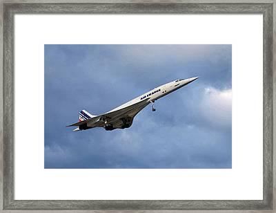 Air France Concorde 117 Framed Print