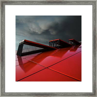 Air... In Or Out ... Framed Print by Gilbert Claes