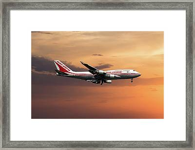 Air India Boeing 747-437 Framed Print