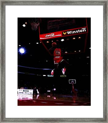 Air Jordan 1988 Slam Dunk Contest Framed Print by Brian Reaves