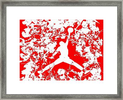 Air Jordan 1f Framed Print by Brian Reaves